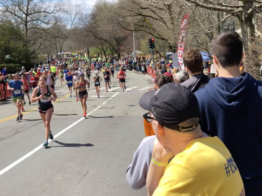 Marathon runners after training with cumulative fatigue.