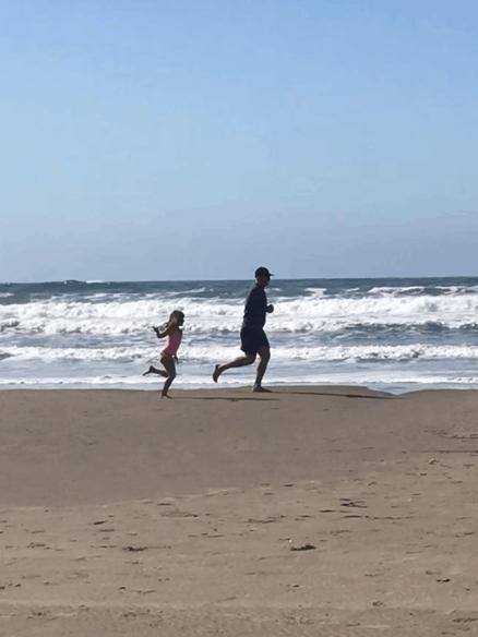 Sand running surface