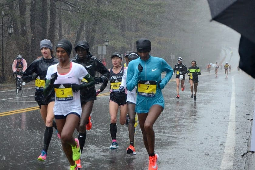 Two elite runners in front had a DNF in the 2018 Boston Marathon.