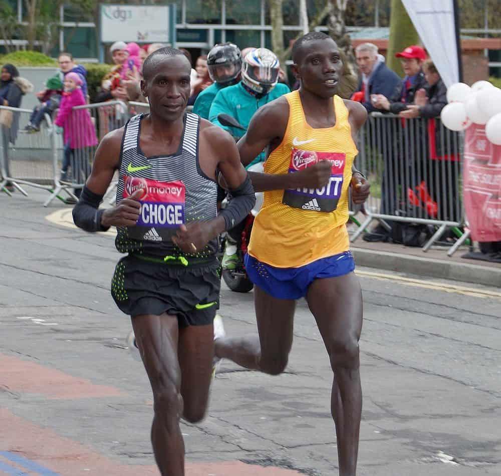 Kipchoge in the 2016 London Marathon