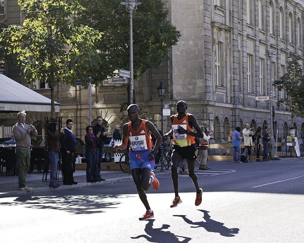 Kenyan Runners Mutai and Kimetto Berlin Marathon 2012