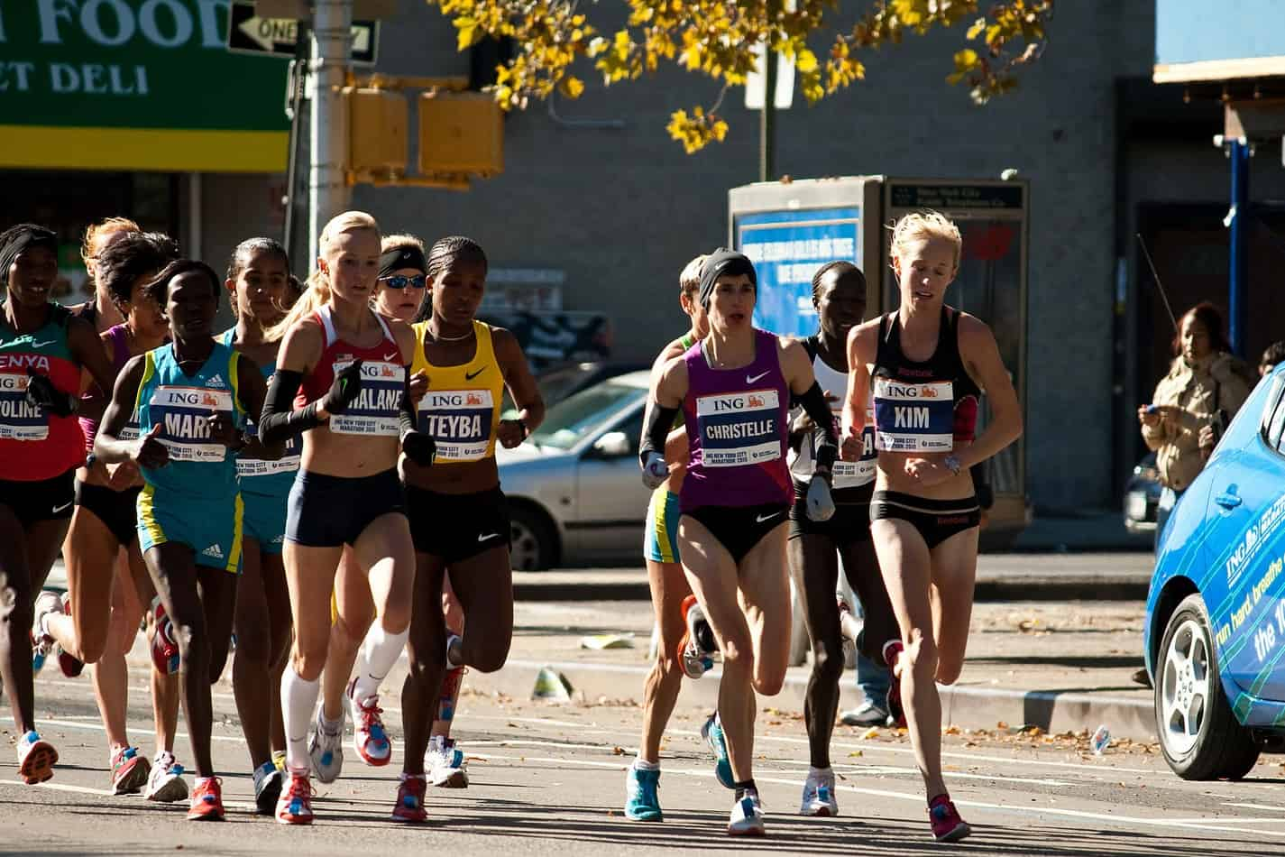 Elite runners that look like they have the best marathon runner's body.