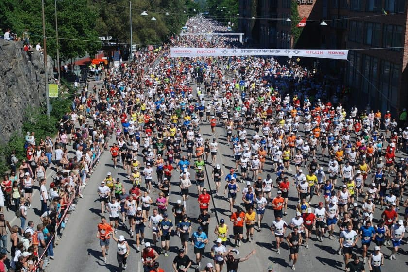 Many runners go out too fast and bank time.